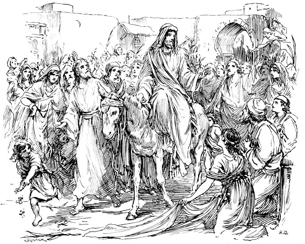 Jesus enters Jerusalem on a colt - Matthew 21:1-9