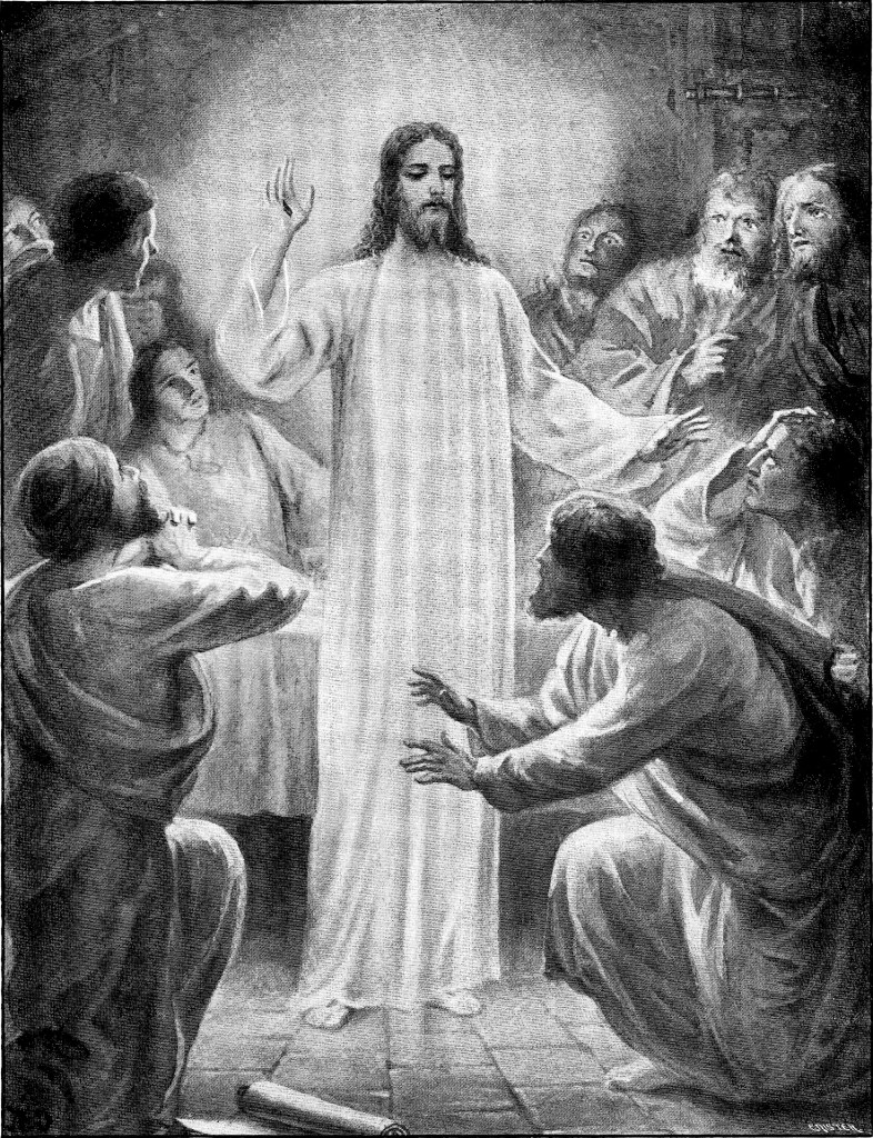 Jesus appears in a room with the apostles - John 20:19