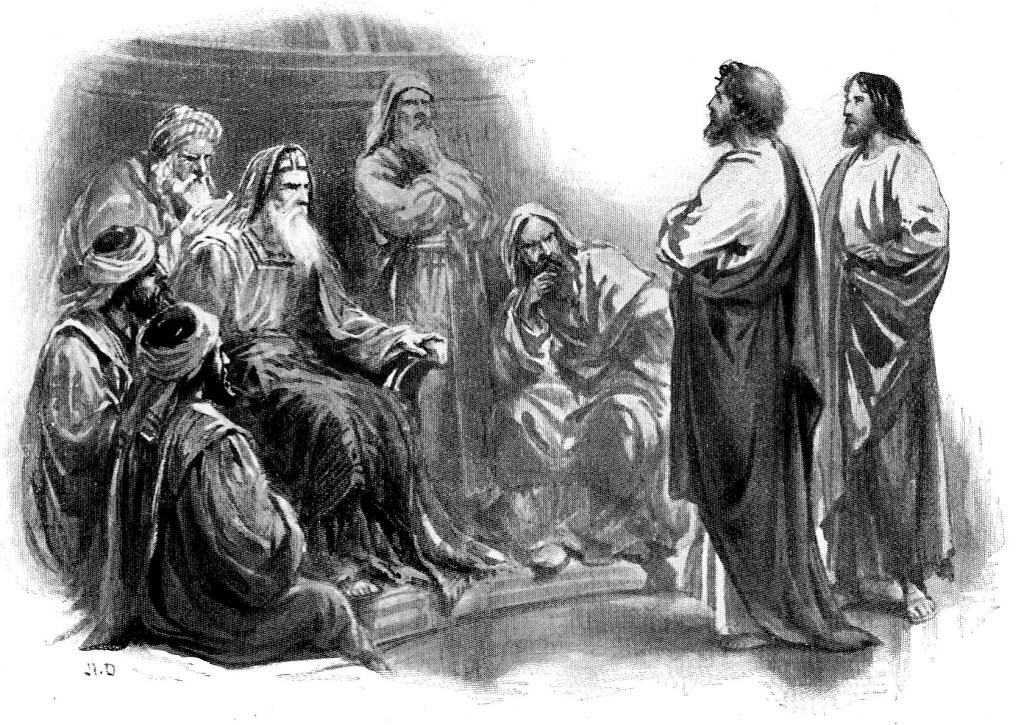 Peter and John before the Jewish leaders - Acts 4:6-13