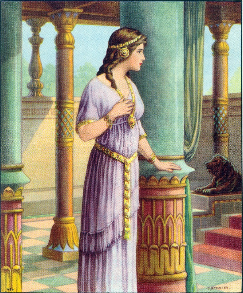 Esther approaches the king Esther 5:1-2