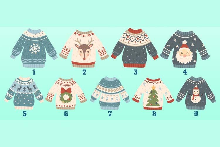 Scegli un maglione di Natale e scopri cosa ti aspetta nella vita familiare