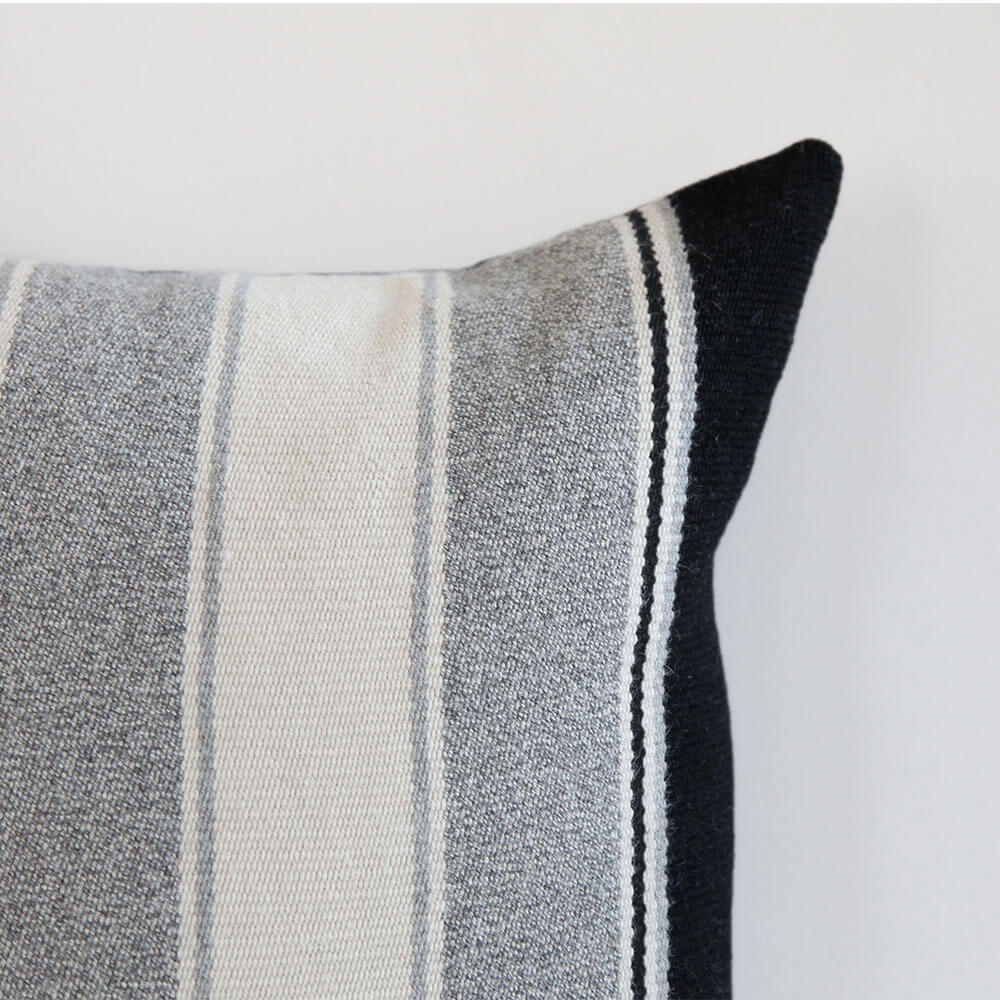 alpaca pillows grey ivory  black stripe  laviva home