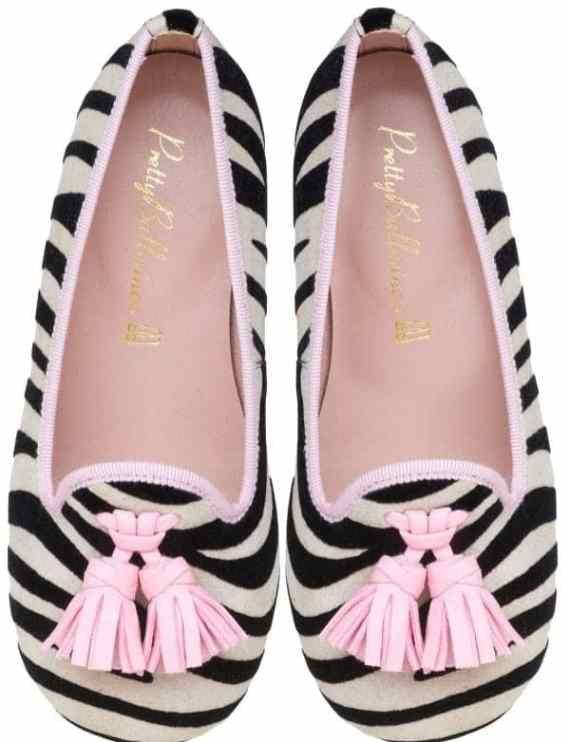 Pretty Ballerinas collezione autunno inverno 2018 2019 Hannah zebra and pink loafer - pair