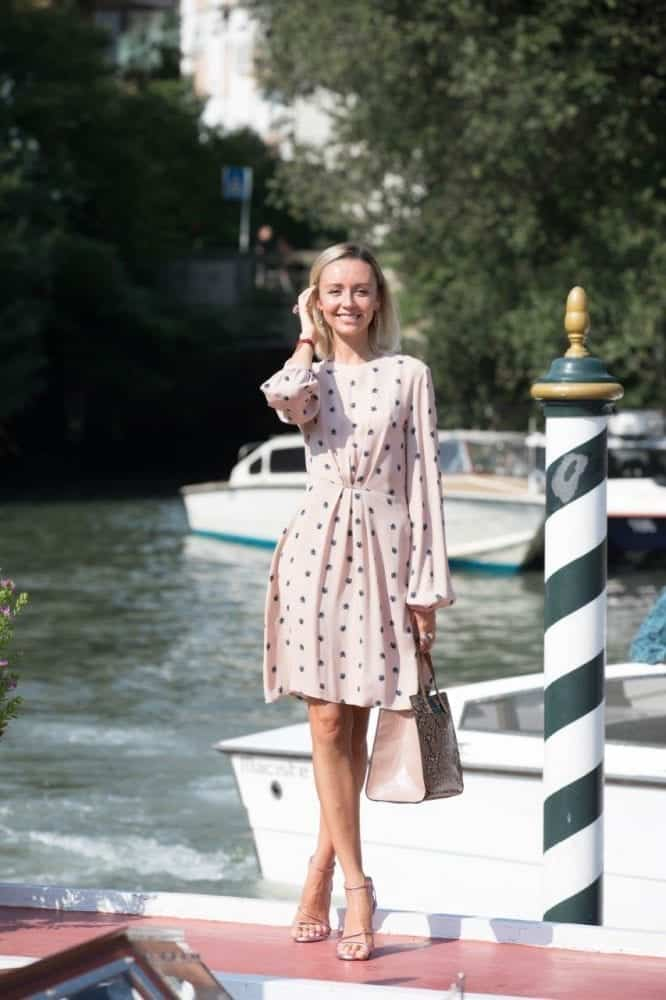Nataly Osmann travel influencer all'arrivo al Lido per la 76 Mostra Internazionale Cinema Venezia 2019