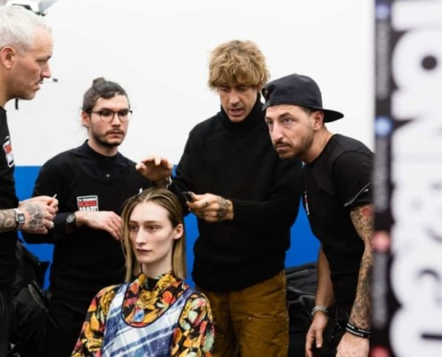 Toni&Guy Hairstyle sfilata Arthur Arbesser AI 2020-21 Milano Fashion Week