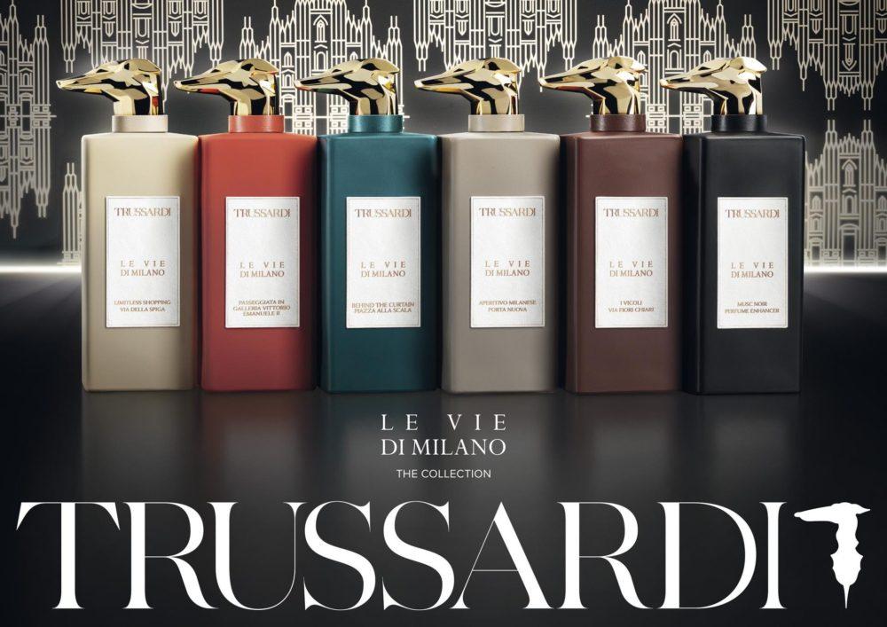 Trussardi Parfums la nuova collezione profumi di lusso Le Vie di Milano