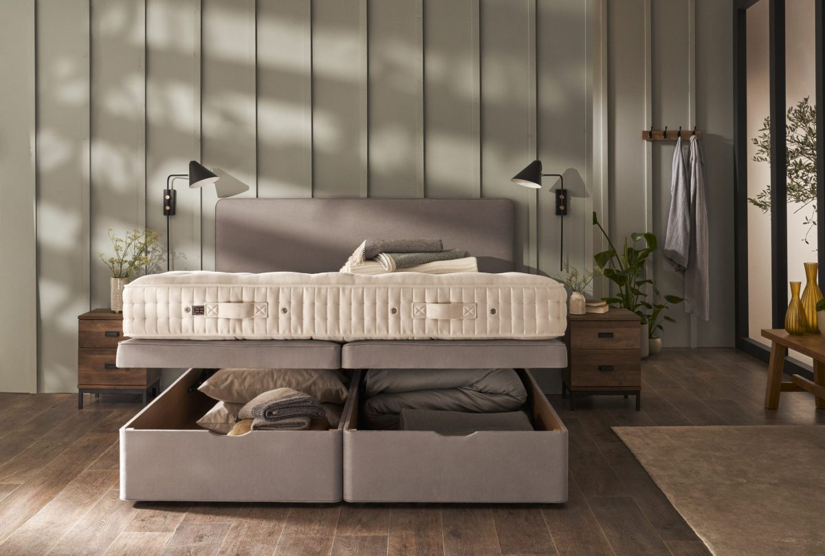 Letto Vispring Ottoman Bed