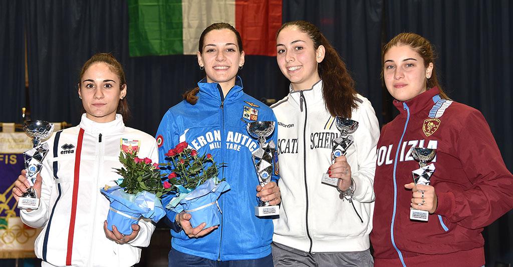 Frascati Scherma: Lucarini vice campione d'Italia Under 23, tre medaglie di bronzo