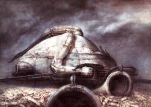 Disegno di H.R. Giger per Dune