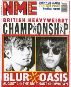 NME dedica la copertina alla sfida tra Blur e Oasis