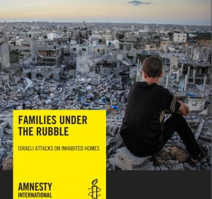 Uno degli appelli di Amnesty International a sostegno della popolazione di Gaza
