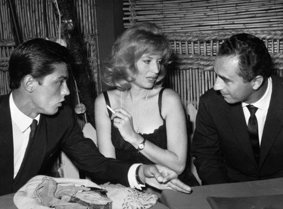 Alain Delon, Monica Vitti e Michelangelo Antonioni