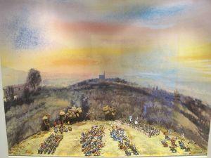 Casa di Dante, diorama della battaglia di Campaldino