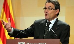Il presidente catalano e leader della coalizione Junts pel si Artur Mas