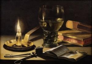 Pieter Claesz, Natura morta con candela accesa, 1627 olio su tavola, cm 26,1 x 37,3 L'Aia, Gabinetto reale di pitture Mauritshuis acquisito nel 1961 (Inv. n. 947) © L'Aia, Gabinetto reale di pitture Mauritshuis
