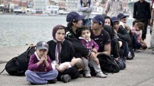 Immigrati sull'isola di Lesbo