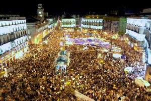 Puerta del Sol durante una manifestazione del 20 maggio 2011.