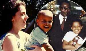 "** FILE ** This 1960's photo provided by the presidential campaign of Sen. Barack Obama, D-Ill., shows Obama with his mother Stanley Ann Dunham. The Kansas-born mother, the Kenyan-born father, Barack Obama Sr., met at the University of Hawaii. They married, and Barack, ""blessed"" in Arabic, was born on Aug. 4, 1961. (AP Photo/Obama Presidential Campaign) ** FOR EDITORIAL USE ONLY, NO SALES **"