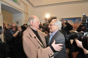 Dario Fo insieme all'amico Enzo Jannacci