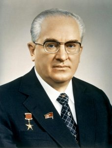 Jurij Andropov,segretario generale dell'Unione Sovietica dal 1982 alla sua morte.