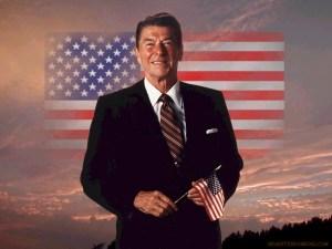 Ronald Reagan presidente degli Stati Uniti d'America dal 1981 fino al 1989.