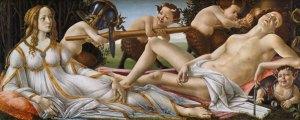 Sandro Botticelli, Venere e Marte, (pittura a tempera, 69 cm x 1,73 m, National Gallery, Londra)