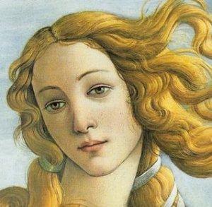 Sandro Botticelli, La nascita di Venere, particolare (1482–1485 c.ca, tempera su tela, 172×278 cm, Galleria degli Uffizi, Firenze)