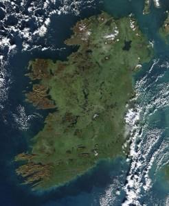 L'isola irlandese, vista dallo spazio