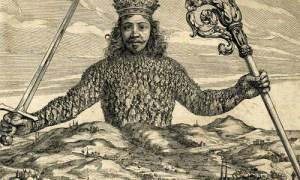 Particolare del frontespizio della prima edizione del Leviatano del filosofo e matematico britannico Thomas Hobbes pubblicato nel 1651