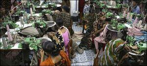 Una tipica fabbrica tessile del Bangladesh
