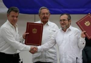 Il 24 novembre 2016 il governo di Juan Manuel Santos e le Forze armate rivoluzionarie della Colombia (Farc) hanno firmato un accordo di pace che mette fine a più di cinquant'anni di guerra civile.