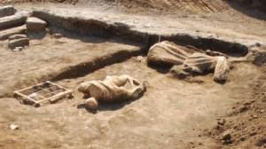 Alcune statue trovate nella villa di Valerio Messalla