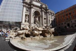 Roma - Sopralluogo fontana di Trevi