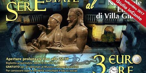 """Stasera a Roma il Concerto """"Villa Giulia inCanto"""" e domani la domenica gratis nei musei"""