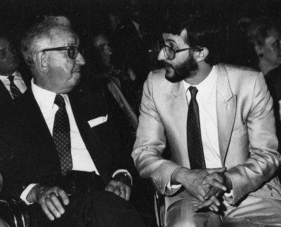 Vaticano 1985 - Sala dei Cento Giorni - Mostra di Guadagnuolo con Rosario Assunto