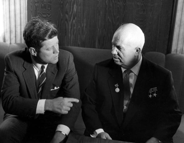 John F. Kennedy e Nikita Kruscev