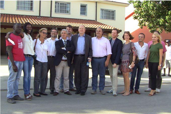"""La delegazione di parlamentari tedesca in visita al """"Cara"""" di Mineo"""