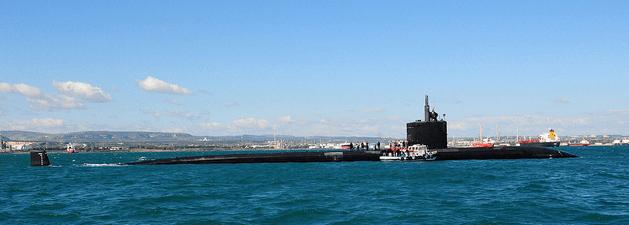 Il sommergibile nucleare Scranton USA ad augusta il 6 marzo scorso