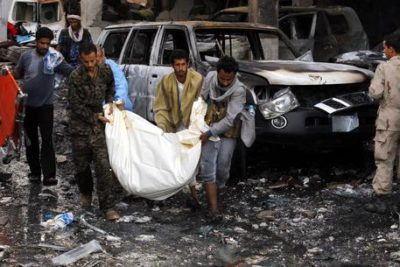 Saudi-led airstrikes hit a funeral ceremony in Sanaa