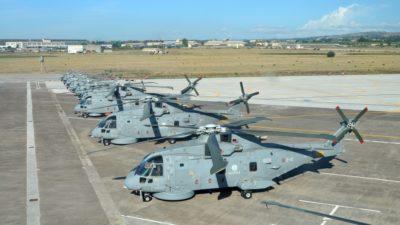 Gli elicotteri di Maristaeli pronti per il G7 di Taormina