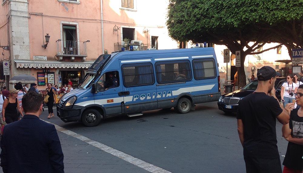 Polizia già operativa a Taormina