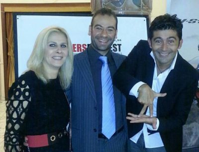 Da sinistra, Stefania Bianchi (direttore artistico Trailers FilmFest), Giuseppe Proiti, Vincenzo Cosentino