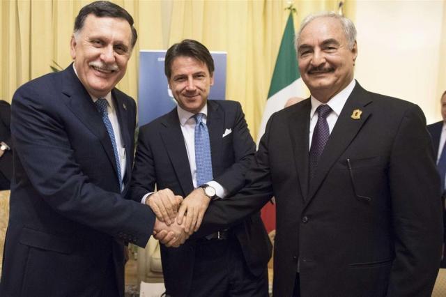 Sarraj,Conte e Aftar a Palermo nel novembre scorso