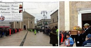 Sava, ieri i funerali delle vittime dell'omicidio ad opera del carabiniere