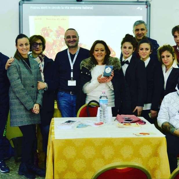 """Il Gruppo Fratres, incontra i ragazzi dell'Istituto Alberghiero """" Mediterraneo"""" di Maruggio"""