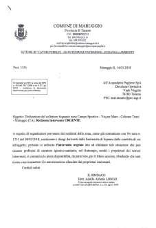 Liquami maleodoranti di fogna nera in via Risorgimento, interviene il sindaco: «La situazione è nota da anni e l'AQP non riesce a risolverla»