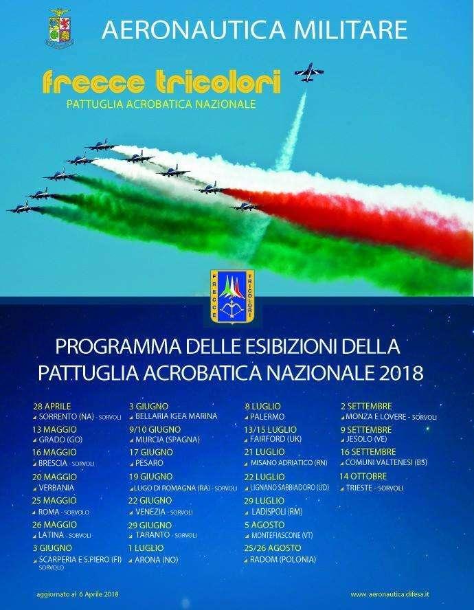 Le Frecce Tricolori Nel Cielo Di Taranto Il 29 Giugno Prossimo La