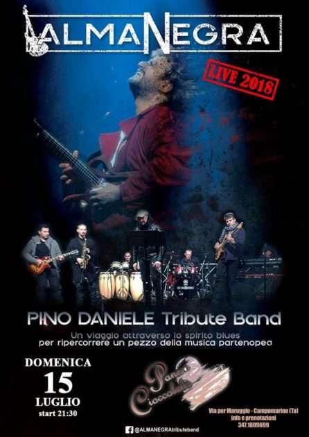 15 luglio evento live a Campomarino di Maruggio: PINO DANIELE Tribute Band