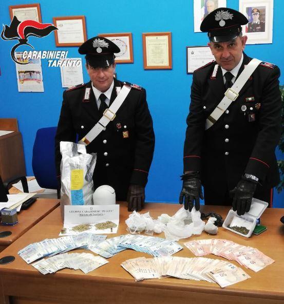 Torricella - Perquisizione domiciliare, arrestato  22enne per detenzione di stupefacenti ai fini di spaccio