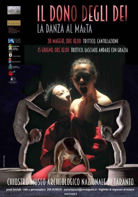 """30 maggio e 15 giugno, nel chiostro del MArTA di Taranto """"Il dono degli dei""""due trittici di danza contemporanea per il progetto """"Heroes"""""""